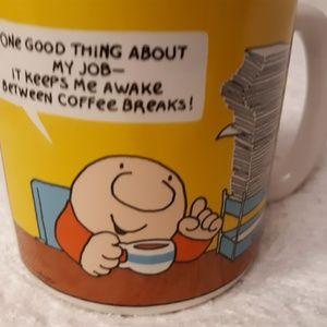 "Vtg. Ziggy Coffee Mug Tea Cup ""One Good Thing """